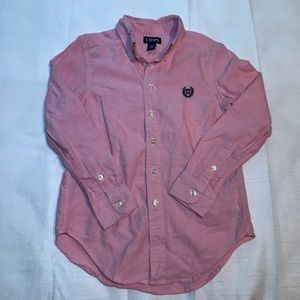 Chaps Boys Long Sleeve Button Up Size Small NWOT
